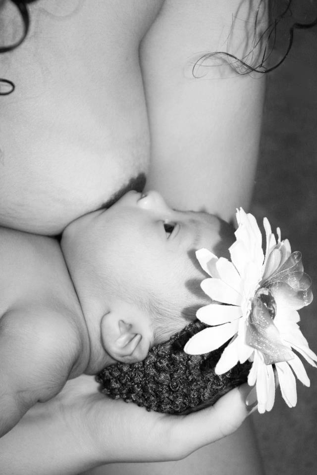 Breastfeeding photos with nudity are okay