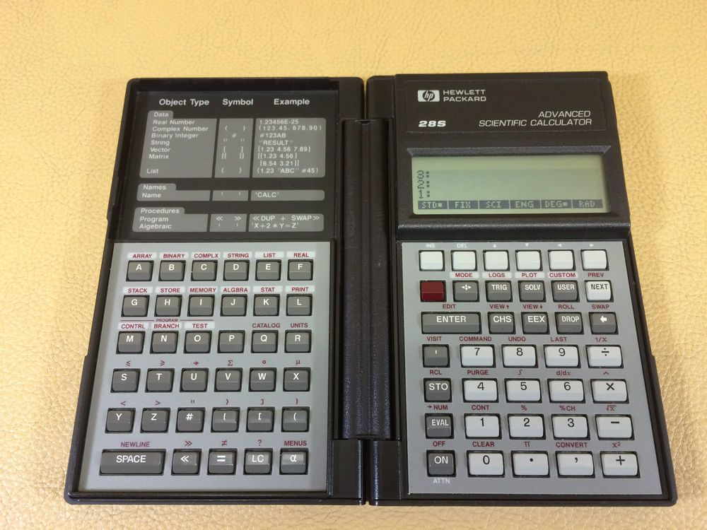 HP Hewlett-Packard Advanced Scientific Calculator 28S W