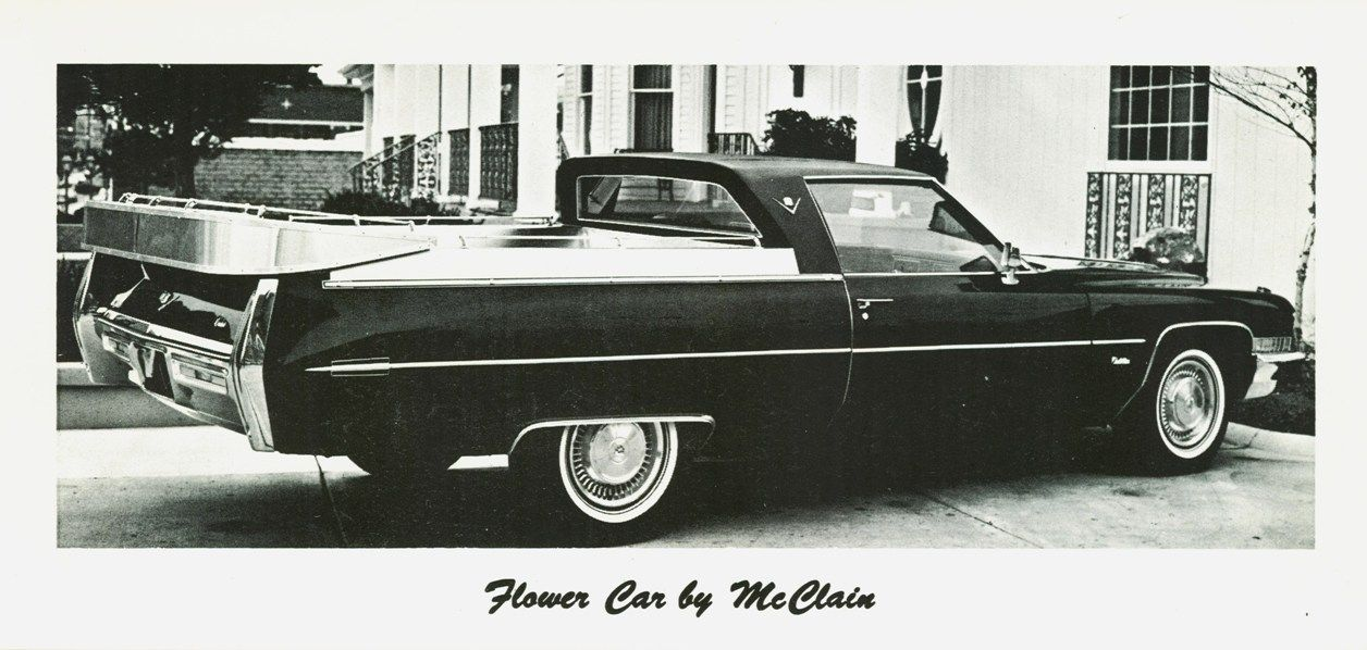 1972 Cadillac Flower Car by McClain Flower car, Cadillac