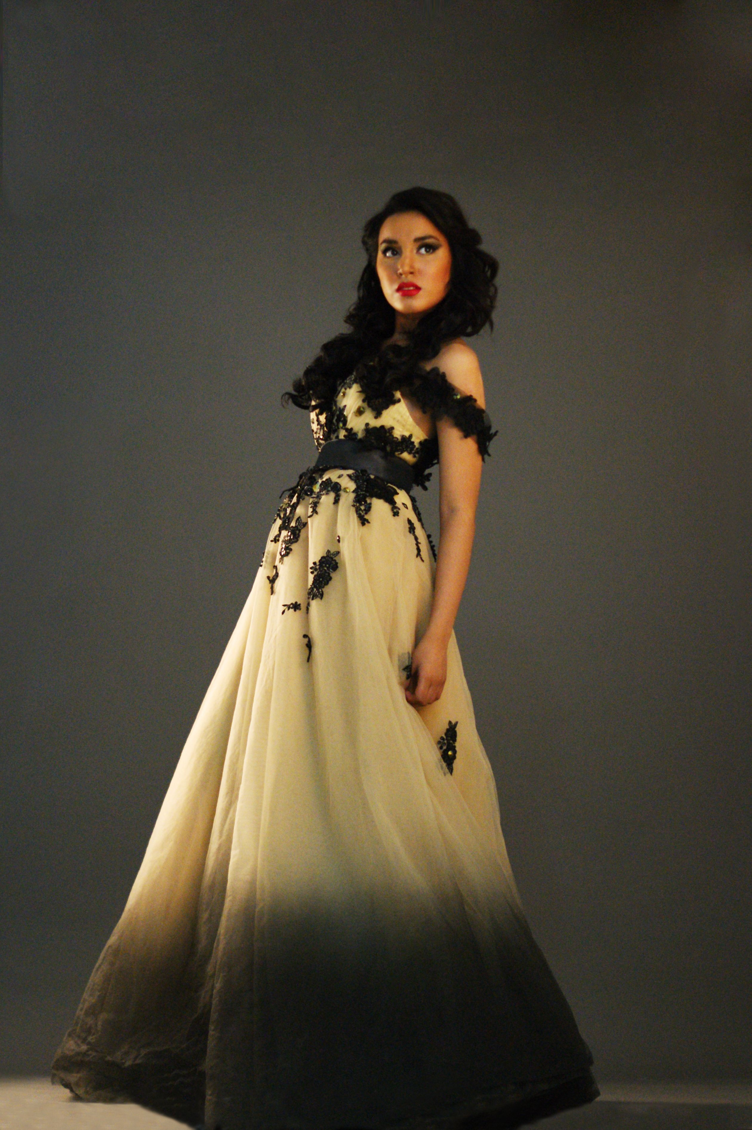 black and yellow ombre gown  3  151d79f0ce9e