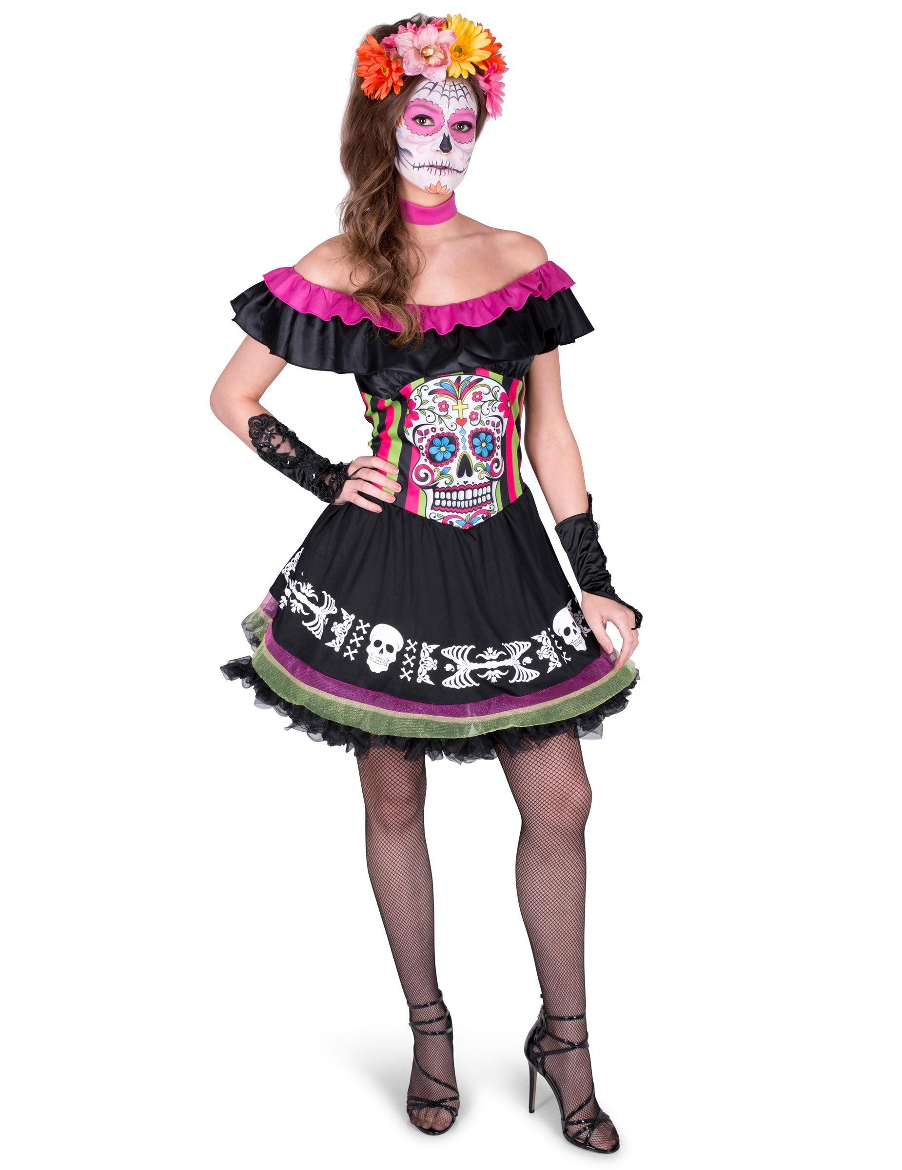 Costume per donna dia de los muertos  Questo costume da donna in stile dia  de 79a685964c8