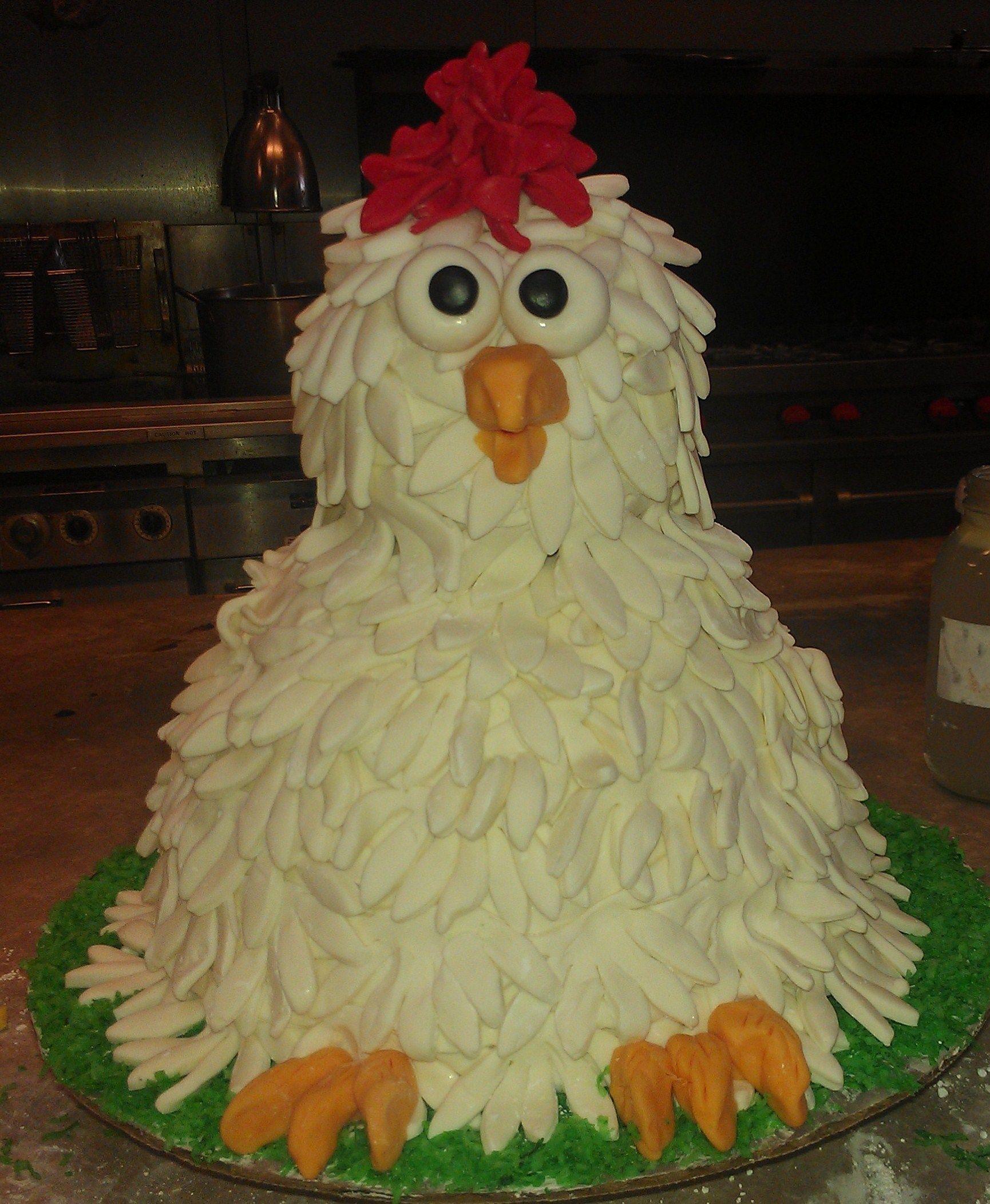 Fantastic Chicken Cake By The Yellow Carrot Chicken Cake My Birthday Cake Funny Birthday Cards Online Bapapcheapnameinfo