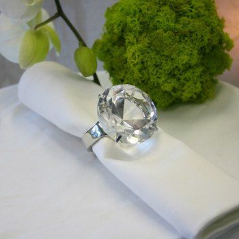 Acrylic Diamond Ring Napkin Holder 1