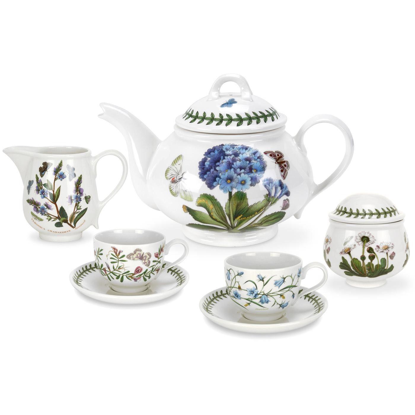 Tea for 2 set Portmeirion pottery, Garden pottery