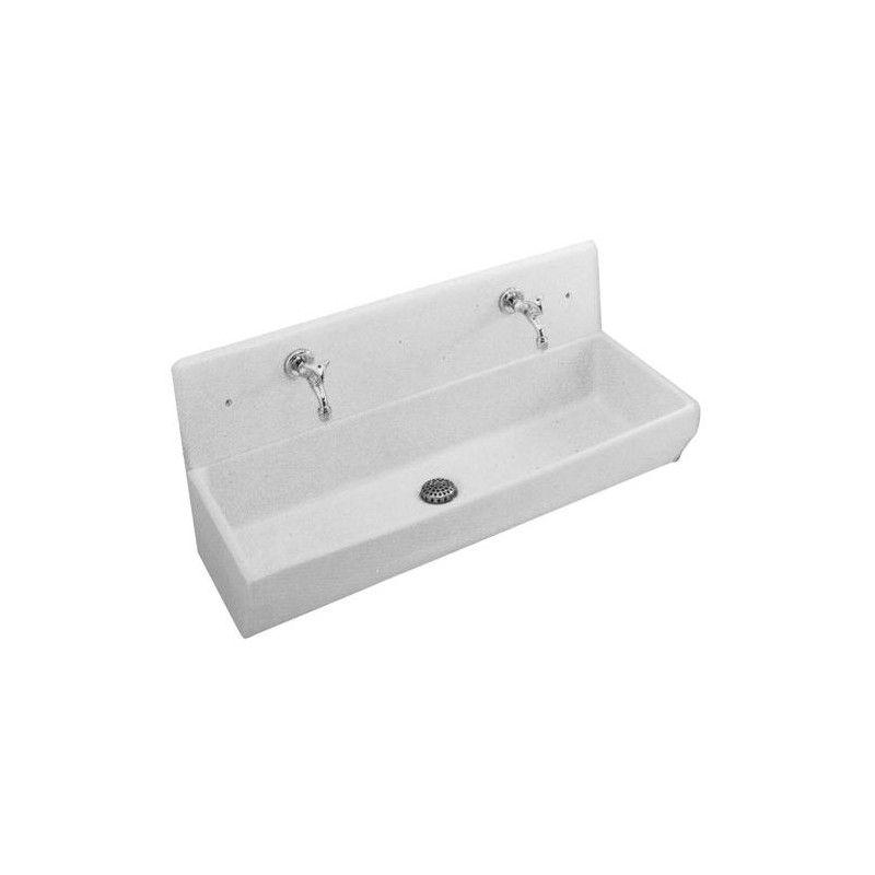 wwwblanc-habitat lavabos-collectivites 10240-lavabo-pour - evier cuisine ceramique a poser