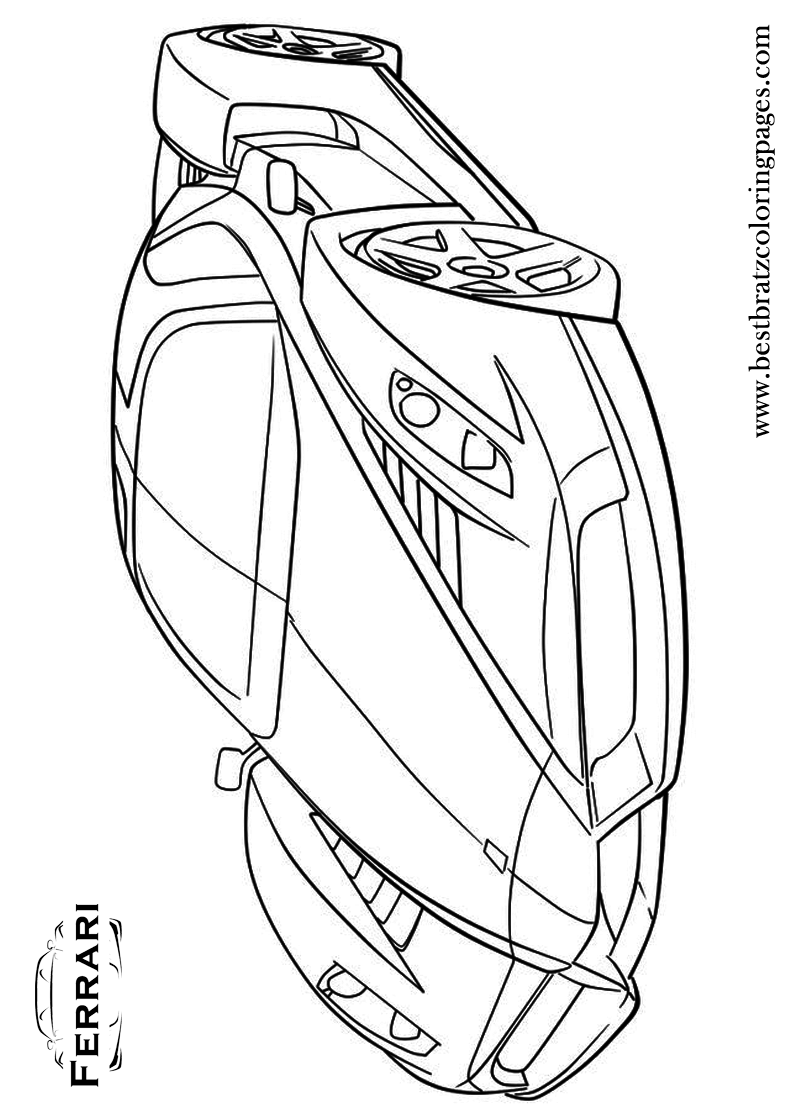 Free Printable Ferrari Coloring Pages For Kids
