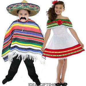 b16c24c4f Details about CHILD'S MEXICAN FANCY DRESS BOYS GIRLS SPANISH COSTUME ...