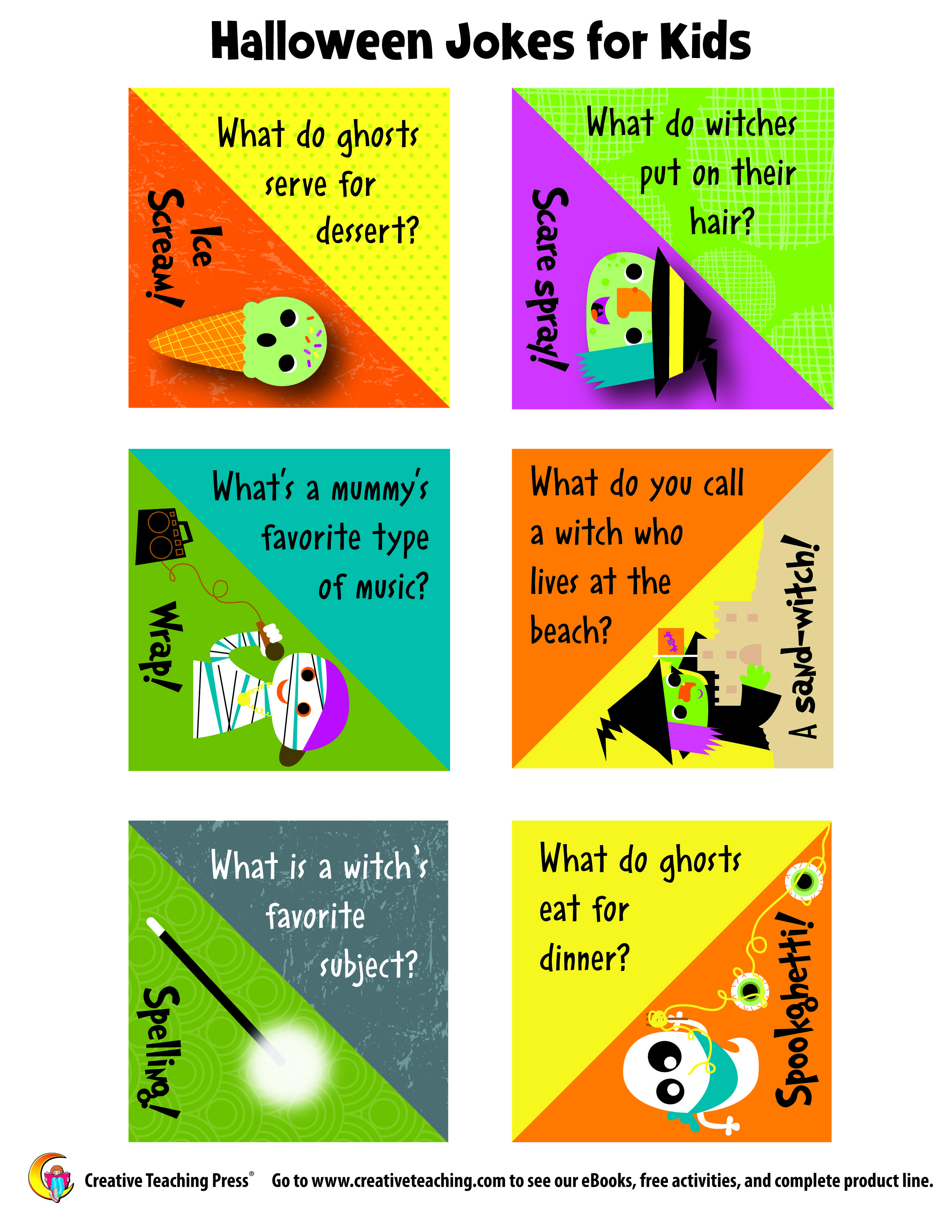 Silly Halloween jokes for kids from Creative Teaching Press ...