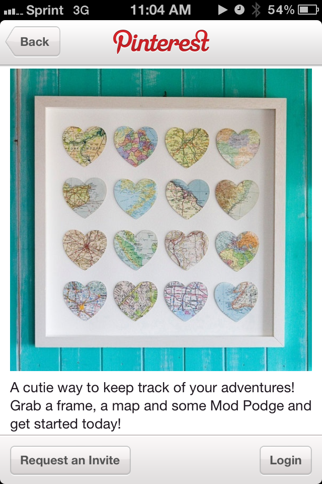 Pin By Christine Madrigal On Diy Heart Map Custom Map Gift