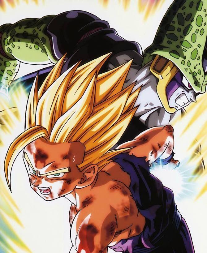 Gohan Vs Prefect Cell Dragon Ball Dragon Ball Z Gohan Vs Cell
