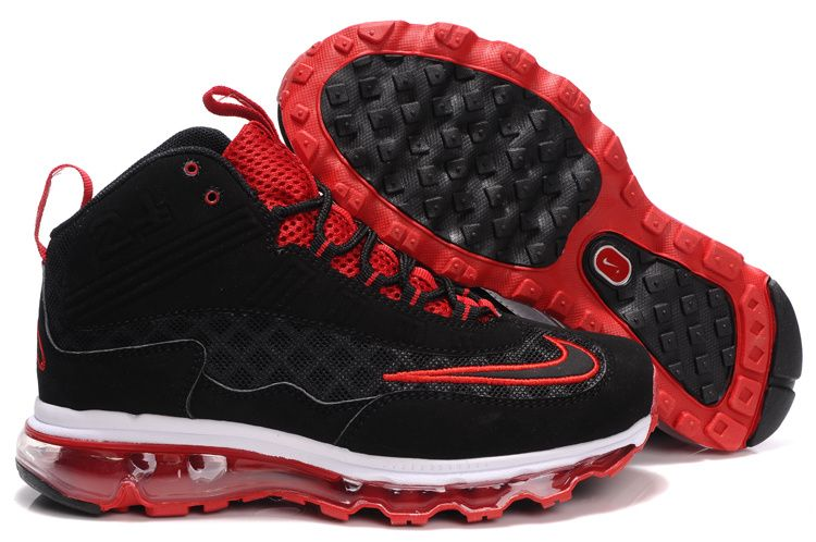 137552e5d98 Nike Womens Griffeys Air Max Jr Black Varsity Red Ken Griffey Shoes ...