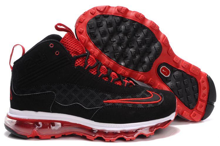 Nike Womens Griffeys Air Max Jr Black Varsity Red Ken Griffey Shoes ... 39355c778