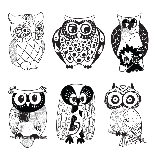 owl printable clipart black and white pinterest owl printable rh pinterest com cute owl clipart black and white owl images clipart black and white