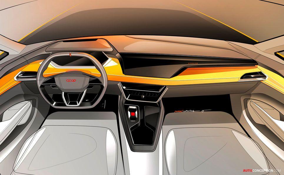 2018 Audi E Tron Gt Concept Audi Interior Car Interior Sketch La Auto Show