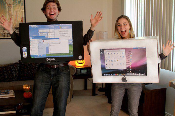 DIY Hallowe'en: Mac and PC Halloween diy, Teacher halloween