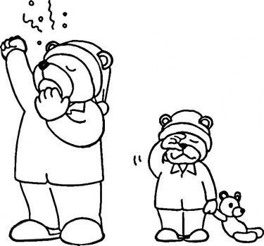 Hibernation Coloring Pages Hibernating Bear Coloring Page Bear