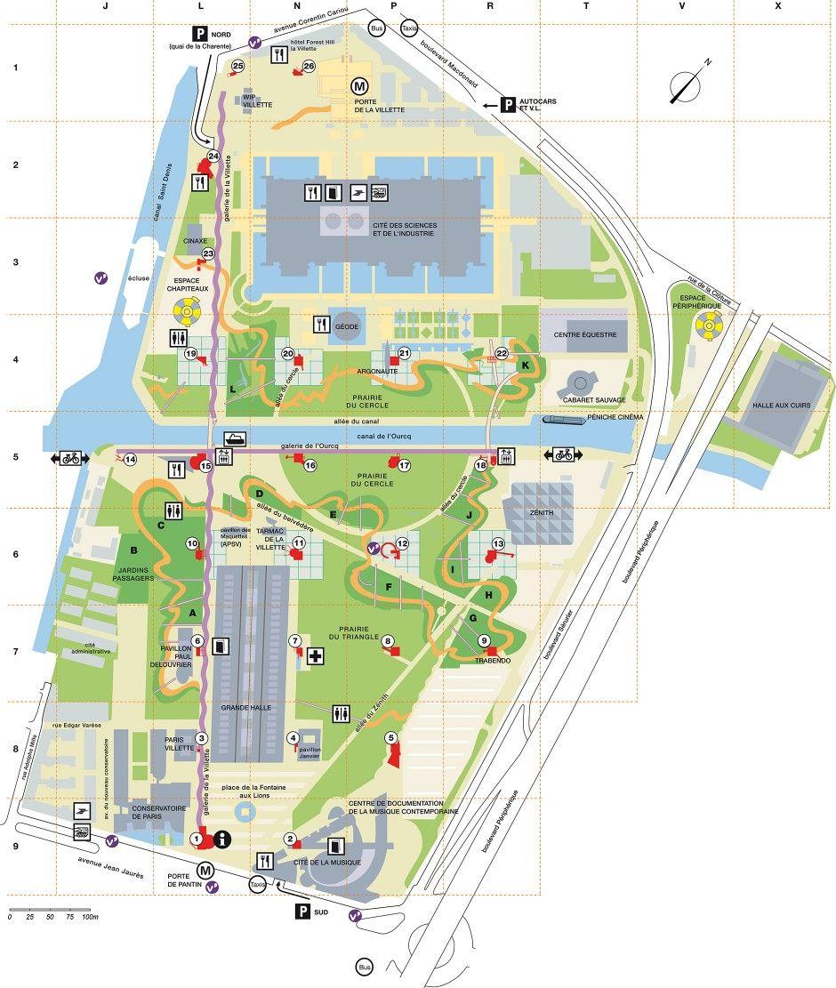 Parc De La Villette Bernard Tschumi Plan Landscape