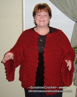 4f7330f35a3b40 Free Crochet Pattern  Mystic Bella Plus Size Cardigan