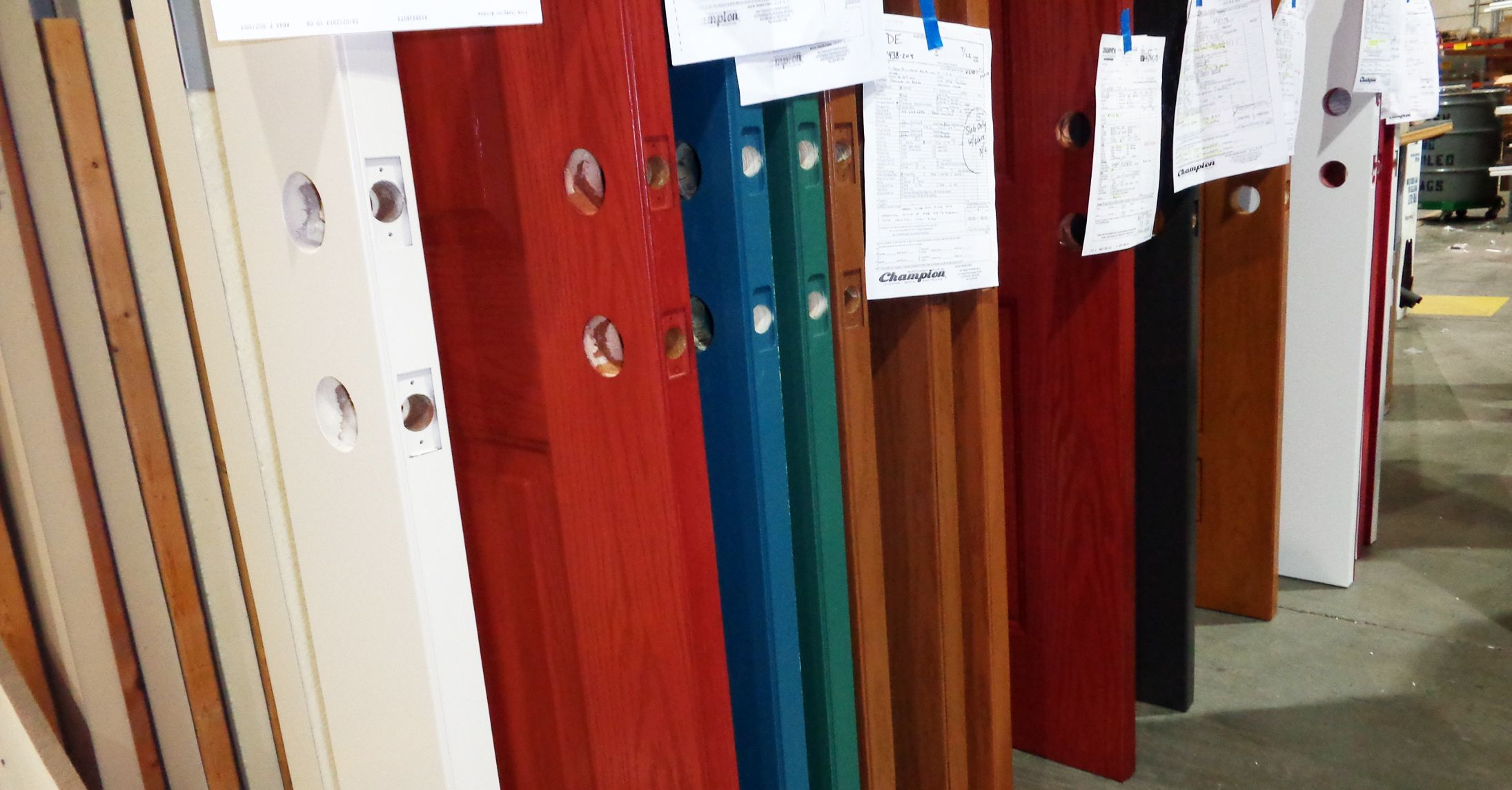 Your Entry Door Should Make A Statement! Champion Doors Are Custom Made In  Our Cincinnati Factory, In A Range Of Paint And Stain Colors.