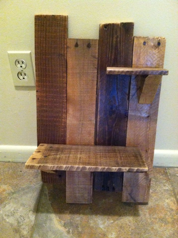 staggered pallet shelf pallet furniture for sale pallet. Black Bedroom Furniture Sets. Home Design Ideas
