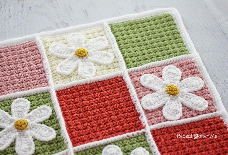 Repeat Crafter Me: Crochet Daisy Afghan | Curiosidades | Pinterest ...