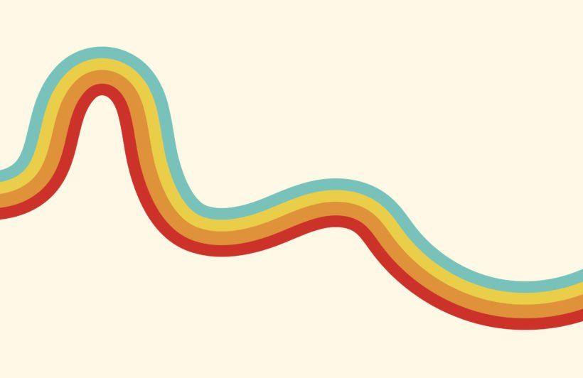70 S Rainbow Wave Retro Wallpaper Mural Hovia In 2021 Retro Wallpaper Wallpaper Notebook Rainbow Wallpaper Boho rainbow desktop wallpaper
