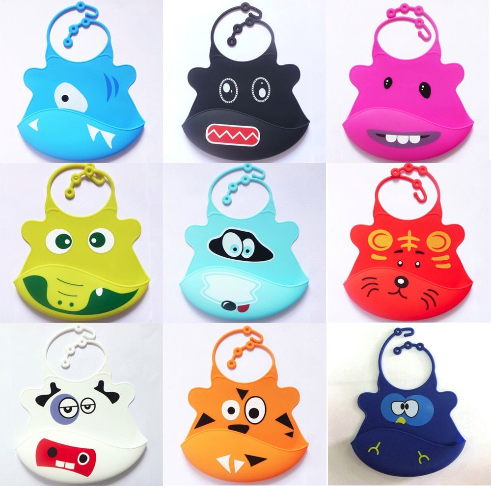 Bibs & Burp Cloths The Best Baby Bibs Waterproof Silicone Cute Cartoon Soft Feeding Baby Saliva Aprons Baby Boys' Baby Clothing