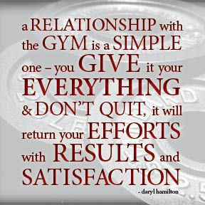 GYM = easiest love relationship EVER!