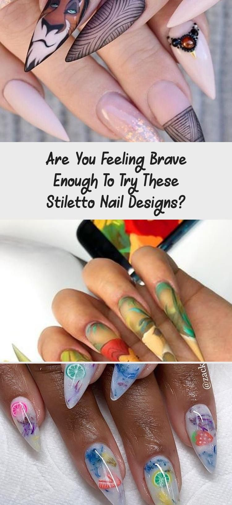 Photo of Are You Feeling Brave Enough To Try These Stiletto Nail Designs? – Nail