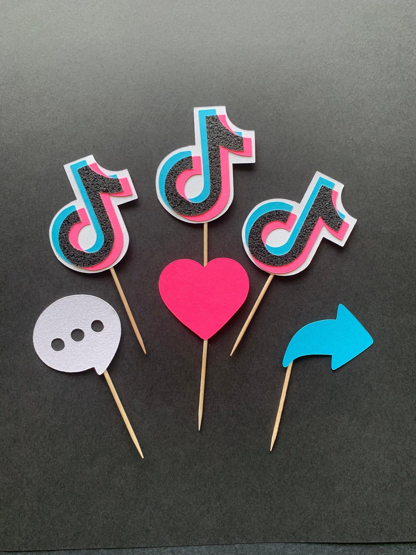 Tik Tok Cupcake Topper Expressions Tik Tok Birthday Party Etsy Party Topper Birthday Party Themes 12th Birthday Party Ideas