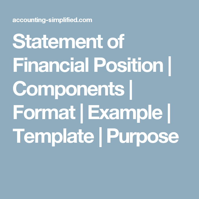 statement of financial position components format example