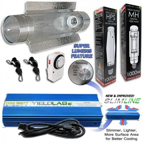 Yield Lab 1000 Watt Cool Tube Hps Mh Kit Grow Lights Light Hanger Cool Stuff