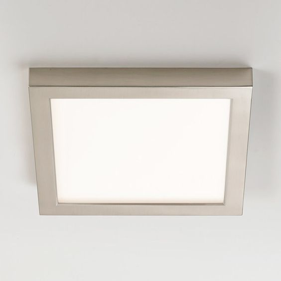 "Low Profile Led Recessed Lighting 9"" Led Simple Square Low Profile Ceiling Light  Junction Boxes"