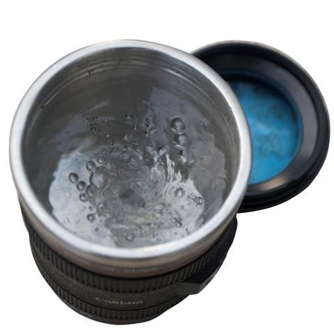 [EBay] 300Ml Emulation Camera Lens Stainless Steel Inner Kitchen Dining Bar Drinkware Home Office Milk Tea Coffee Self Stirring Mug Cup