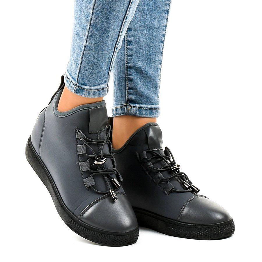 Szare Ocieplane Trampki Wysokie Na Koturnie Xy 35 High Sneakers Dress Shoes Men Womens Sneakers
