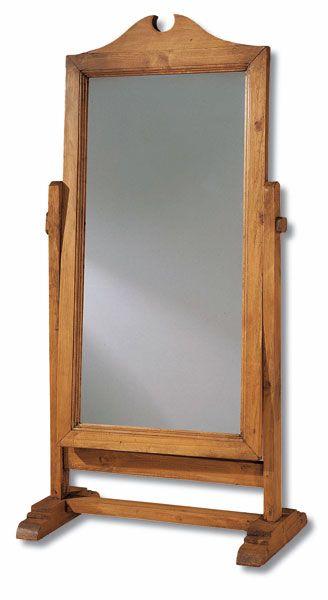 Espejo de pie rustico armon en 2019 muebles rusticos for Espejo madera envejecida