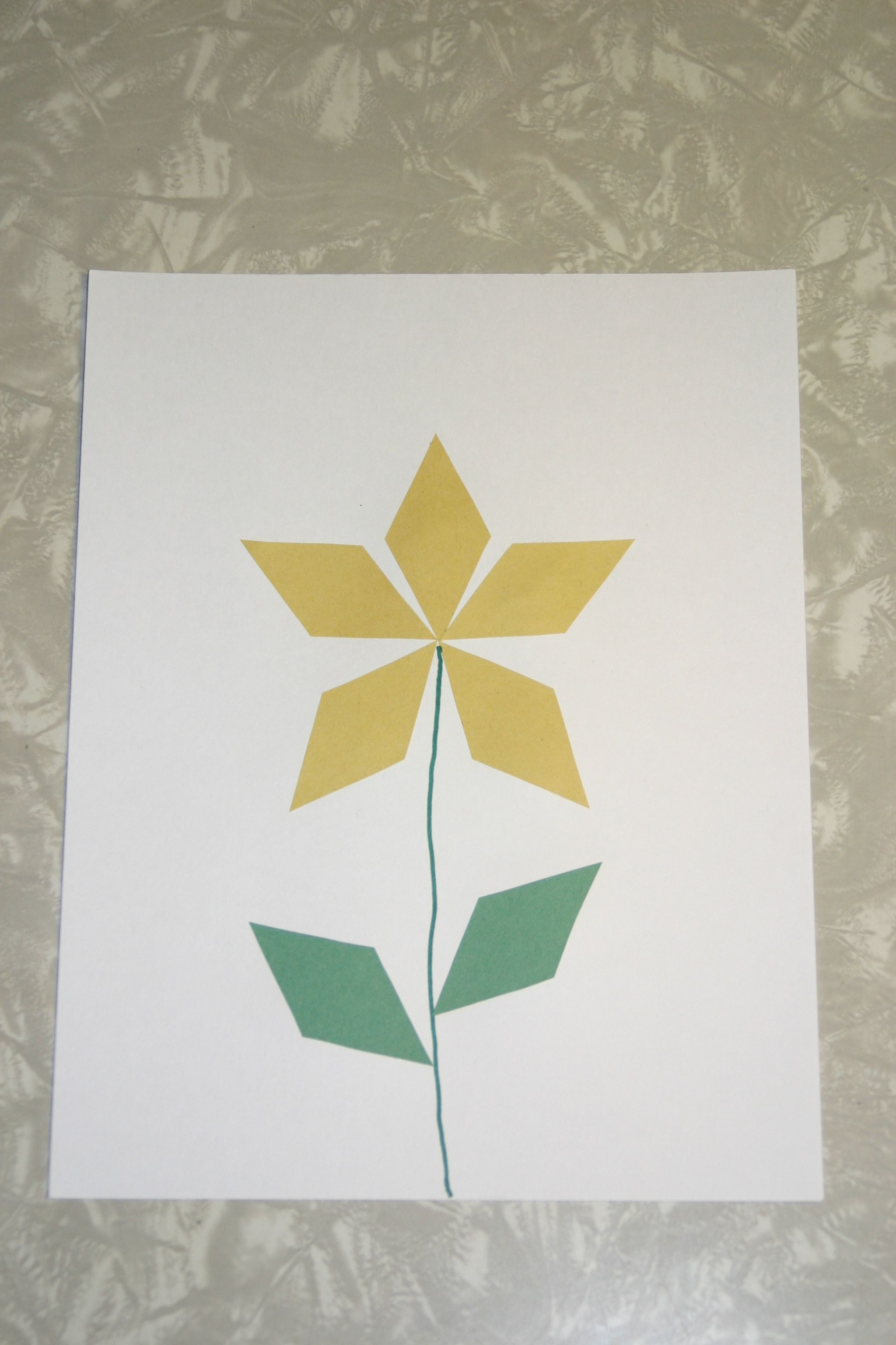 Have Fun Learning About Diamonds With This Diamond Shaped Flower Craft