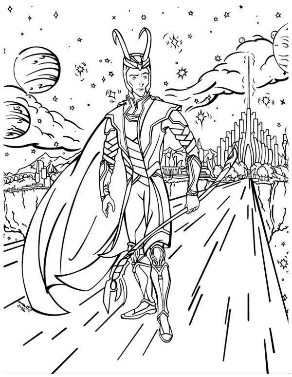 Lego Loki Coloring Pages