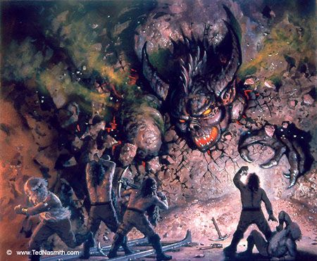 The Awakening Of The Balrog Tolkien Lotr 3rd Amp 4th