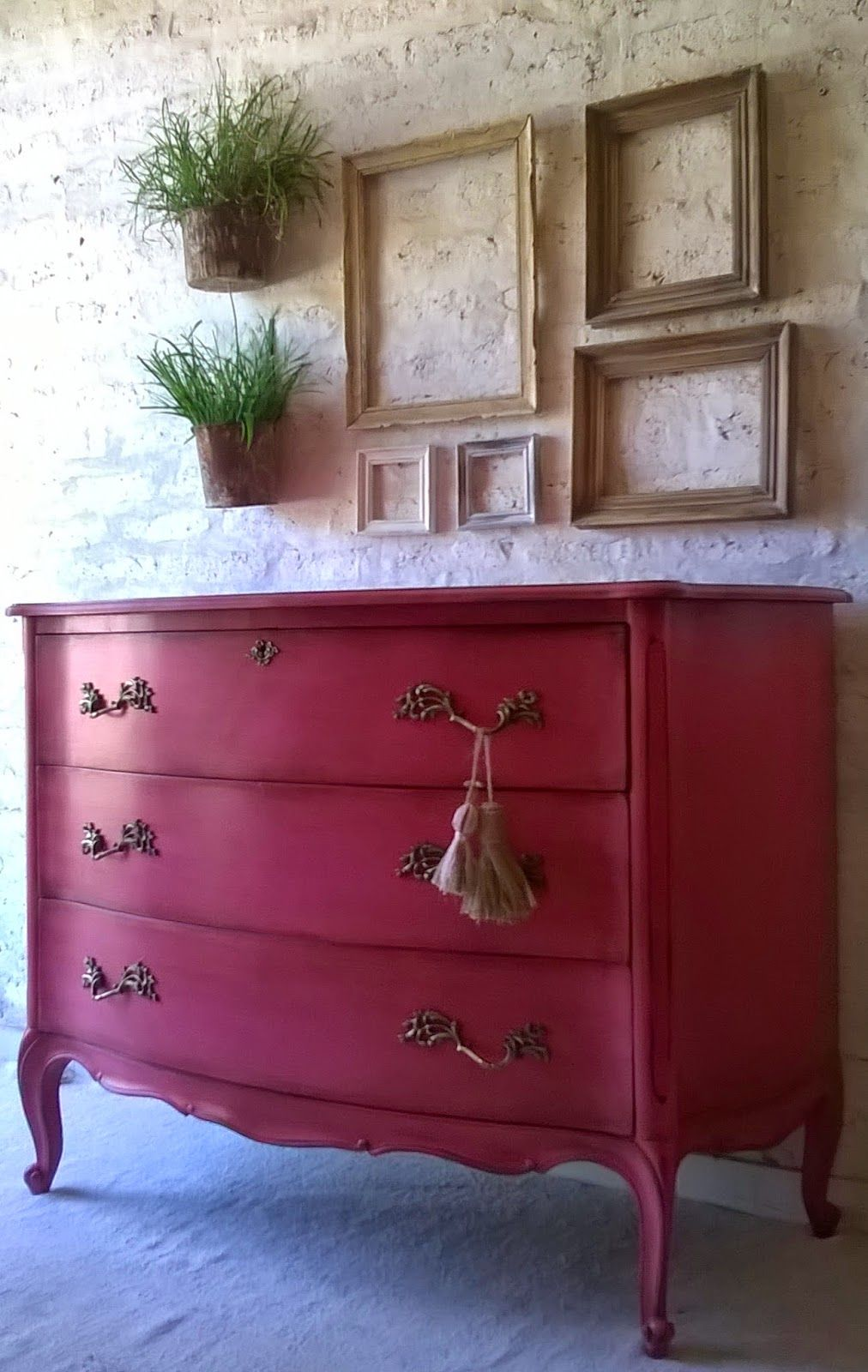 c moda antigua luis xv fucsia envejecido muebles