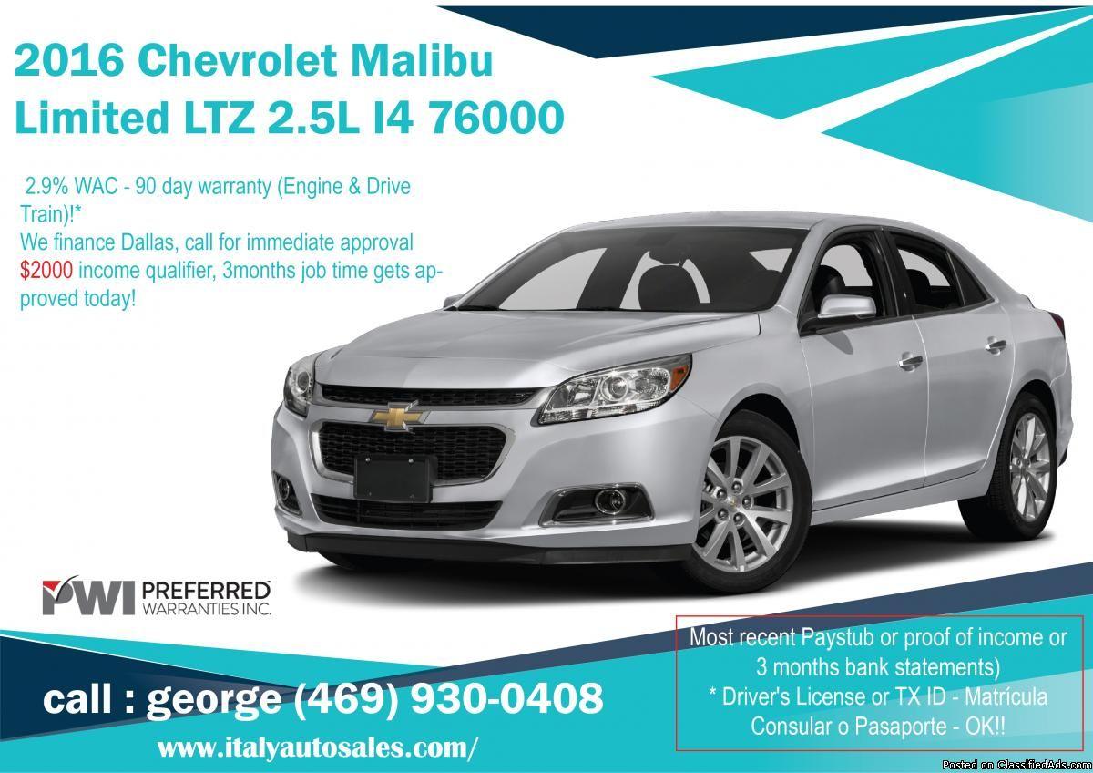 2016 Chevrolet Malibu Limited Ltz Classified Ad Chevrolet