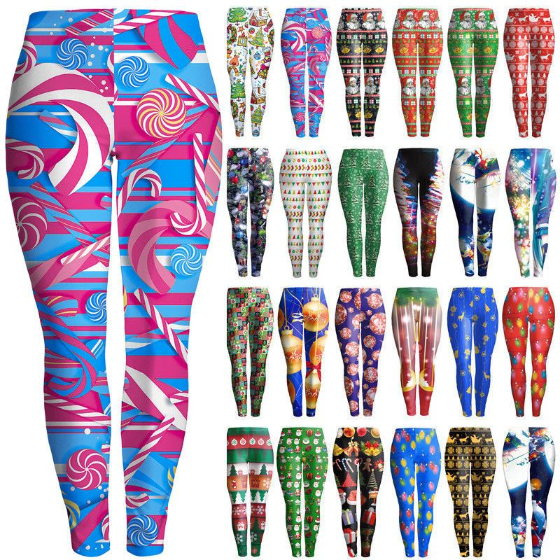 Women Vintage Roses 3D Graphic Print Skinny Stretchy Pants Yoga Leggings