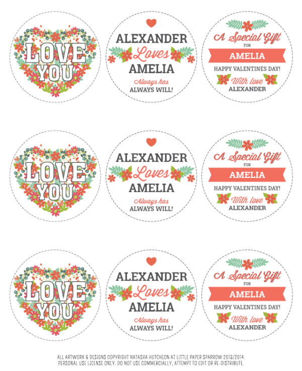 Free Round Editable Valentines Day Printables Valentine39s Day Labels Templates And