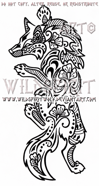 Climbing Henna Wolf Design By Wildspiritwolf On Deviantart Forearm Tattoos Blossom Tree Tattoo Polynesian Tattoo