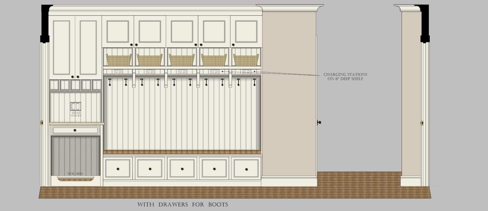 Similar Design To Our Plan Mudroom Lockers Mudroom Design Mudroom