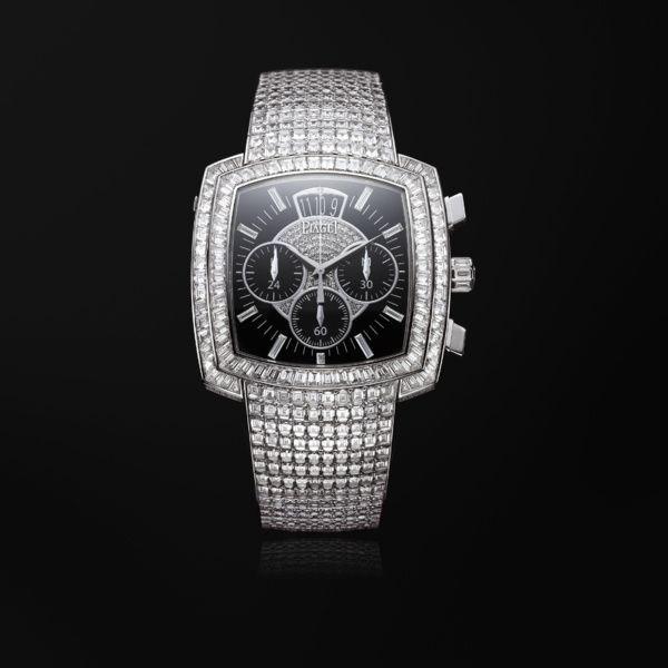 f0abd76829ed Reloj cronógrafo flyback oro blanco diamante - PIAGET Relojes de Lujo  G0A33145