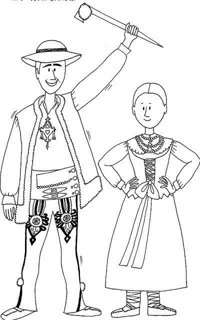 folk costume - highlanders, Tatra Mountains, Poland   Polish folk ...
