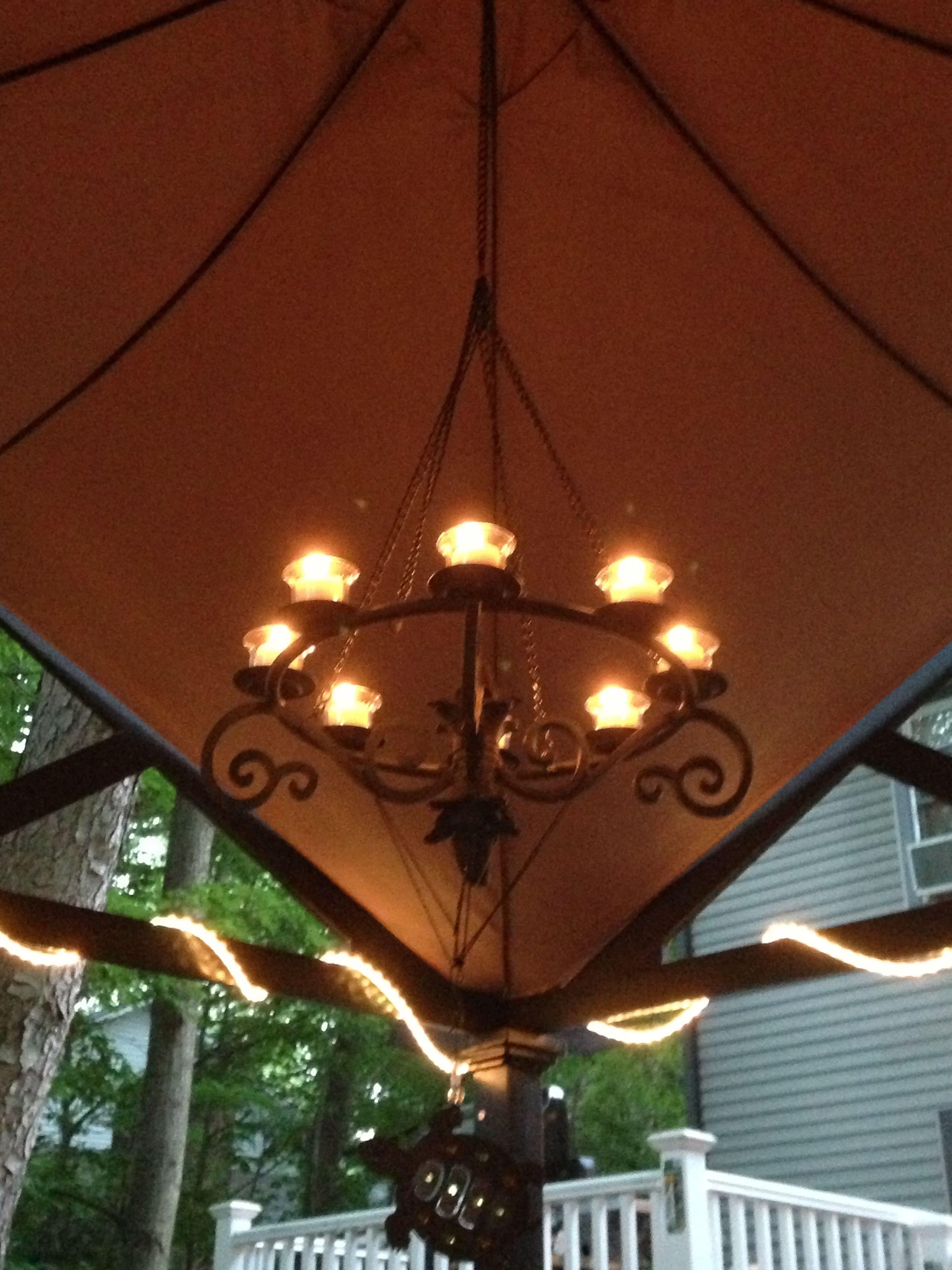 Beautiful Chandelier Under A Gazebo You Can Find It At Lowes