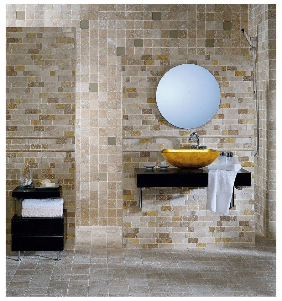 Mosaik - Kakelmonster | Mosaik Travertino 30.5x30.5