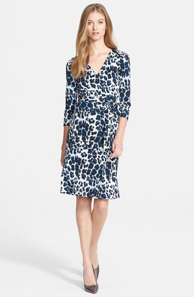 Diane+von+Furstenberg+'New+Julian+Two'+Print+Silk+Jersey++Wrap+Dress+available+at+#Nordstrom